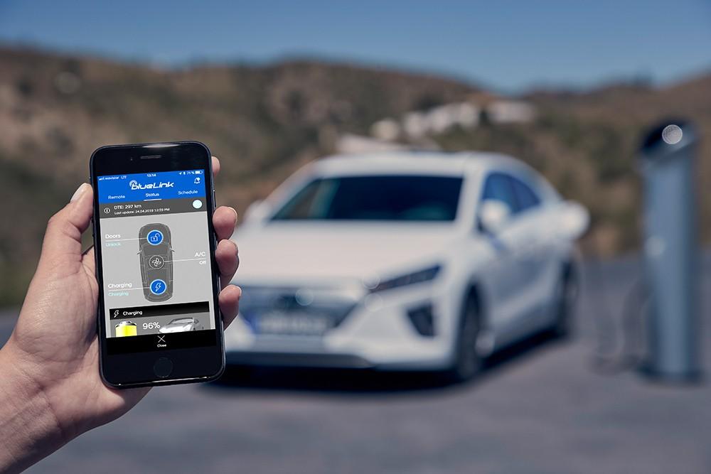 Das Konnektivitätssystem BlueLink® für den Hyundai Ioniq Elektro mit Facelift