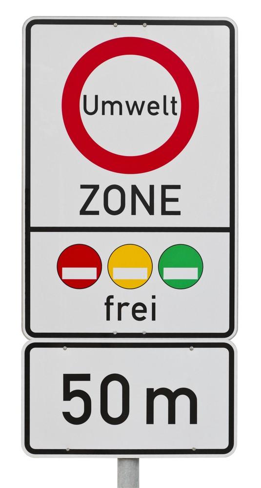 Umweltzone Schild in Deutschland