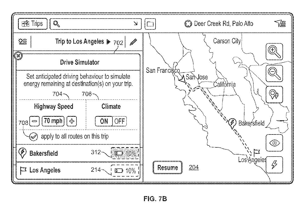 Wireframe aus dem Patent von Tesla: Verbraucher wählen.